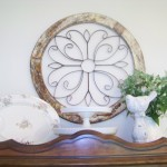 cottage display on china hutch