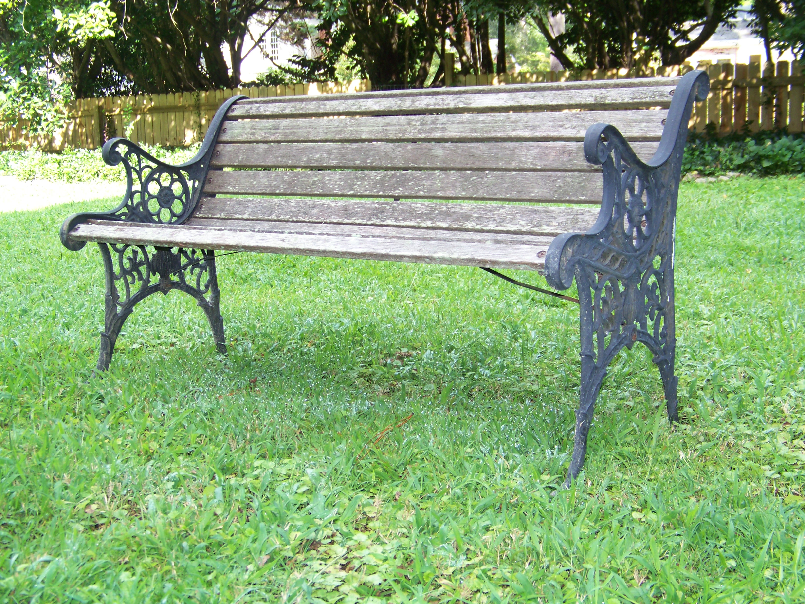Ordinary Painted Benches Outdoor Part - 4: Bench Before · Painted Garden ...