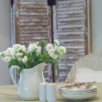 dining room & weathered shutters