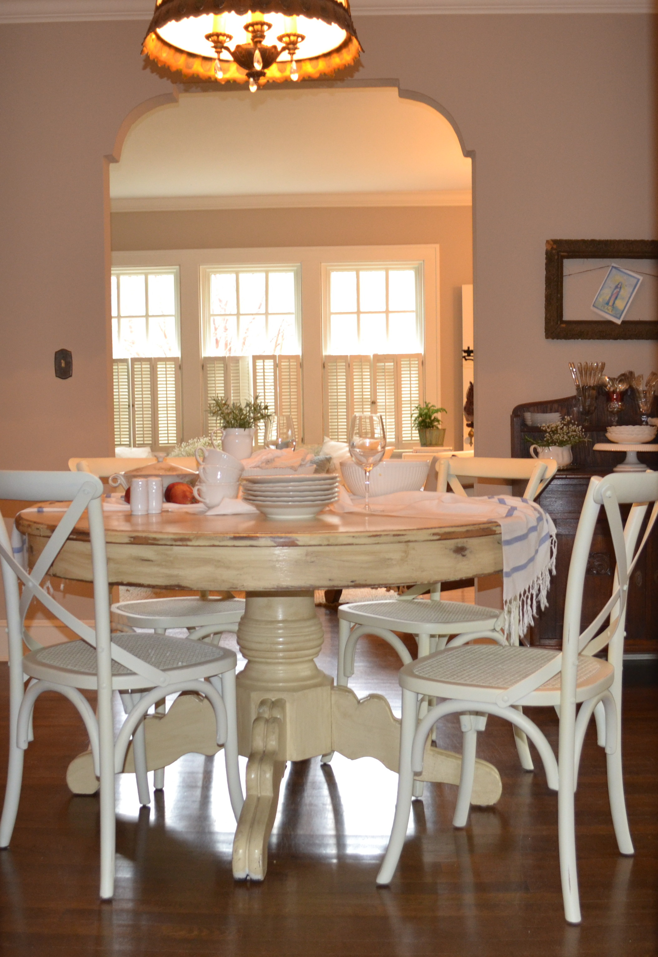 our dining room with new chairs