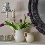 purple tulips & a Spring mantle