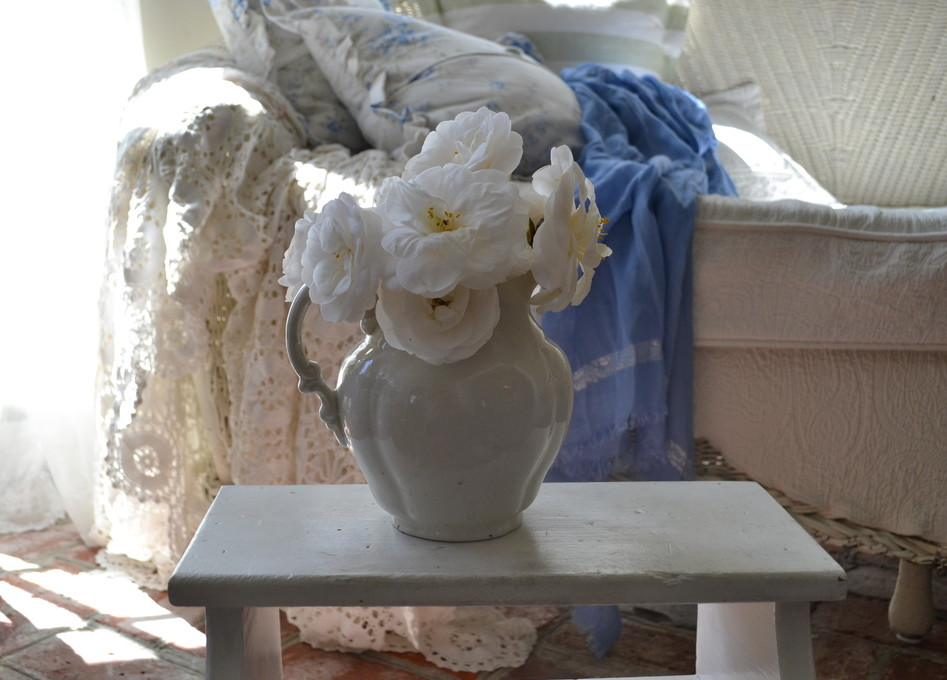 Cottage Fix - white camellias