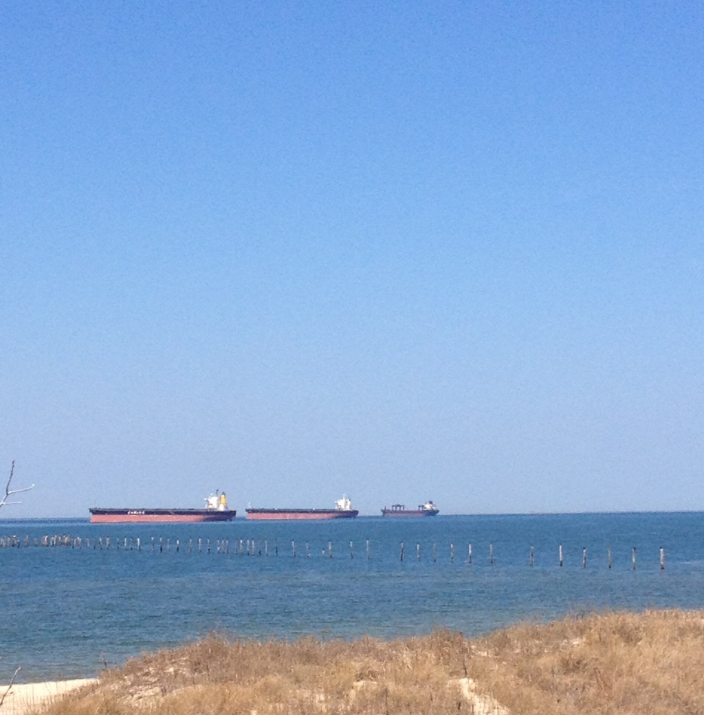 coal ships on the Chesapeake Bay