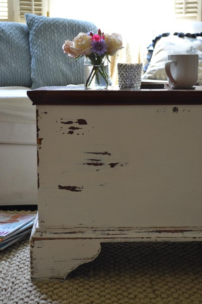 my heirloom trunk gets a shabby cottage makeover