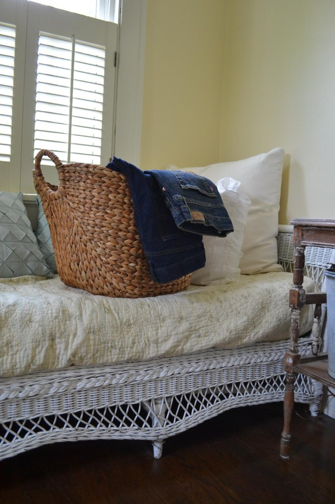 Cottage Fix - blue jeans and a laundry basket