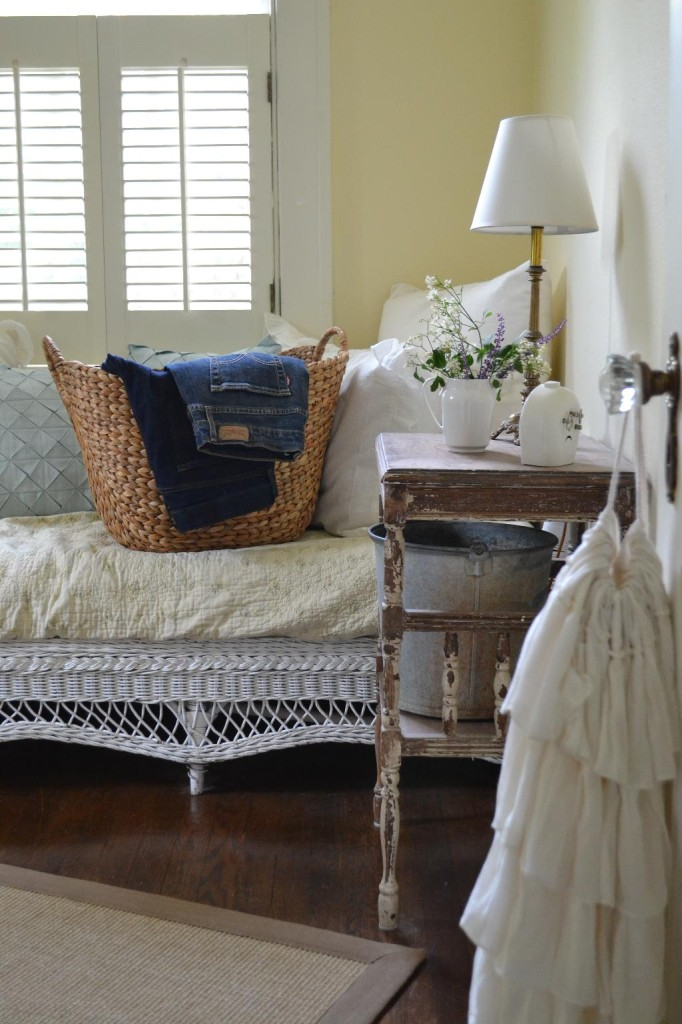 Cottage Fix - blue jeans in the guest room