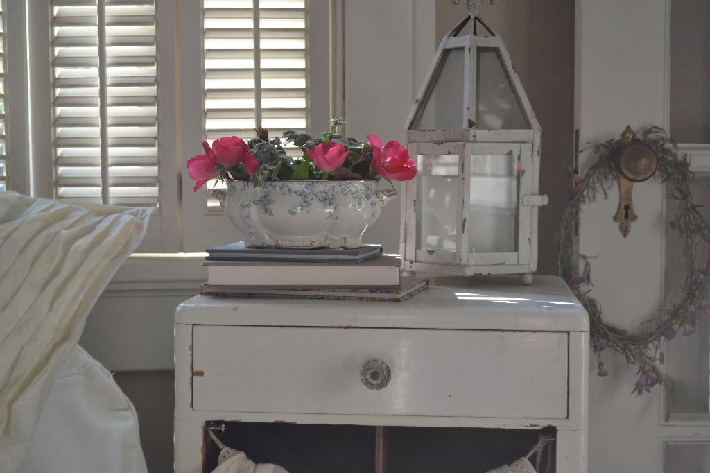 Cottage Fix - blue and white tureen and shabby accessories