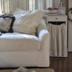 adding texture with gathered pillow shams
