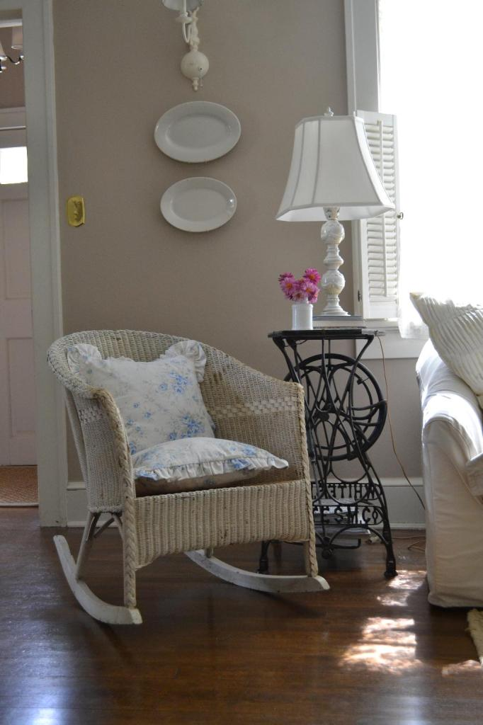 Cottage Fix - vintage rocker in the living room