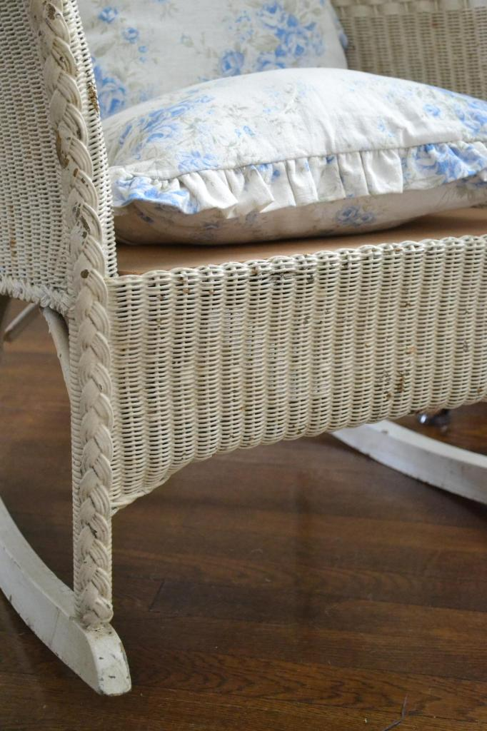 Cottage Fix - vintage rocker in need of a seat cushion