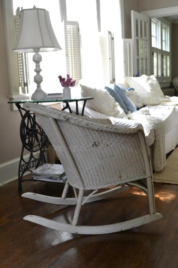 Cottage Fix - vintage wicker rocker