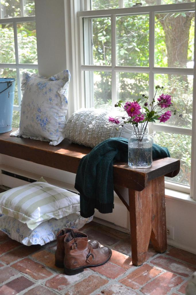 Cottage Fix - heirloom walnut bench