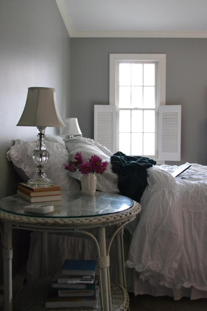Cottage Fix - master bedroom with shabby chic bedding