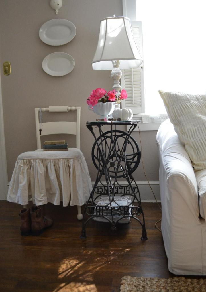 Cottage Fix - the cottage living room with goodies from Mary Alice of Chateau Chic