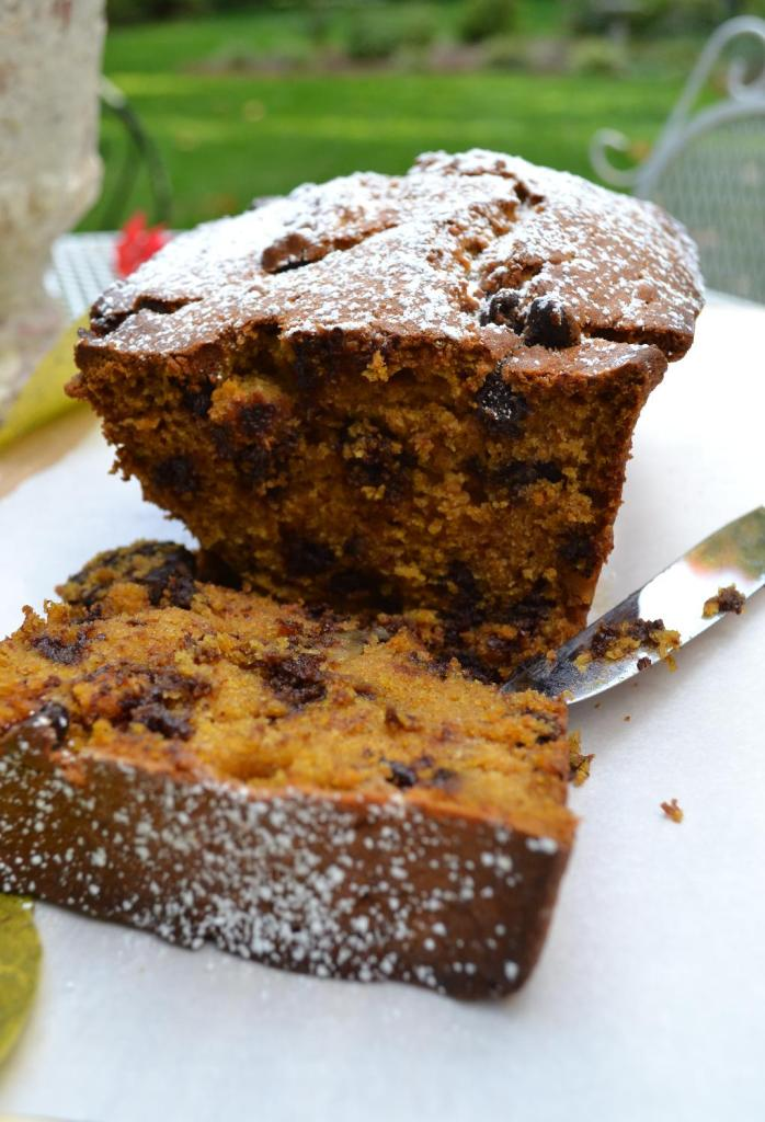 Cottage Fix - sour cream pumpkin bread with chocolate chips