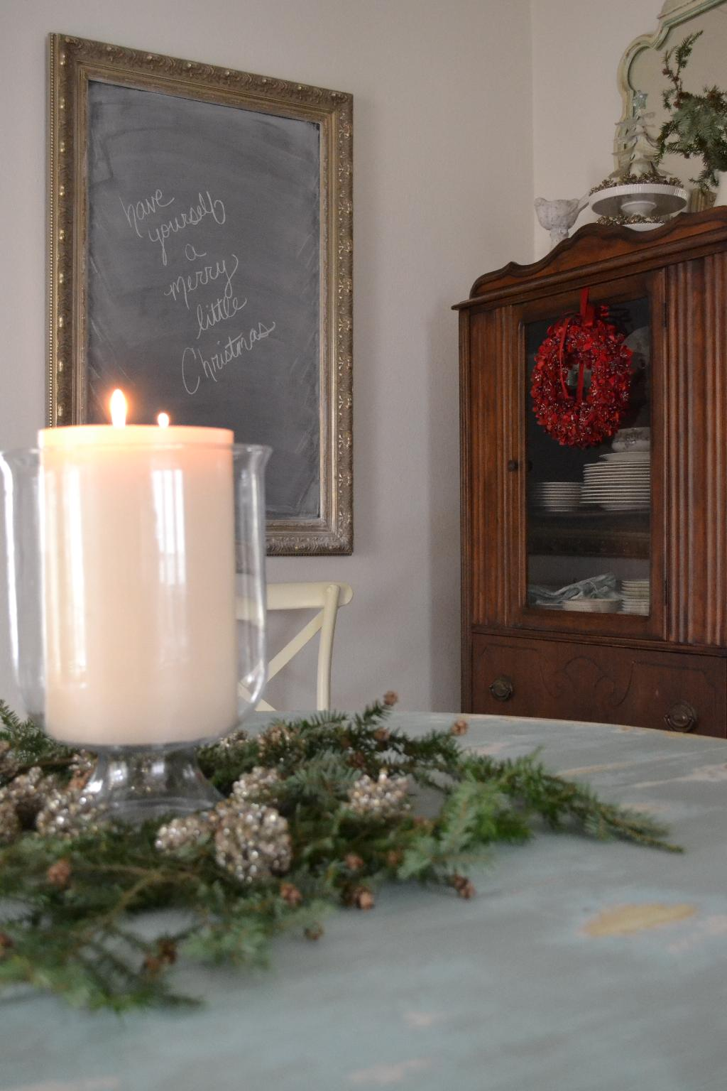Cottage Fix - Christmas centerpiece