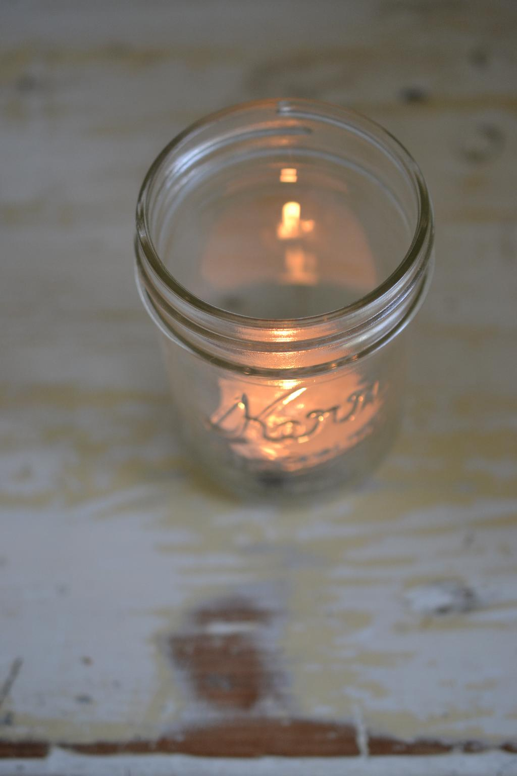 Cottage Fix - tea alight candle in a mason jar