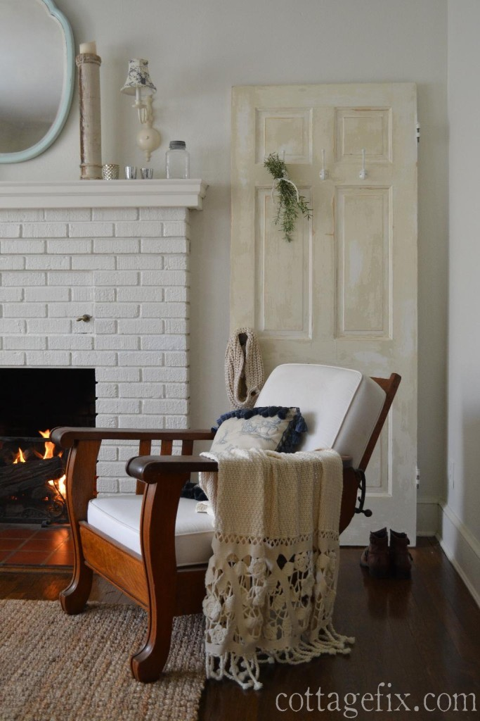 Cottage Fix blog - crochet trim throw blanket for a romantic cottage look