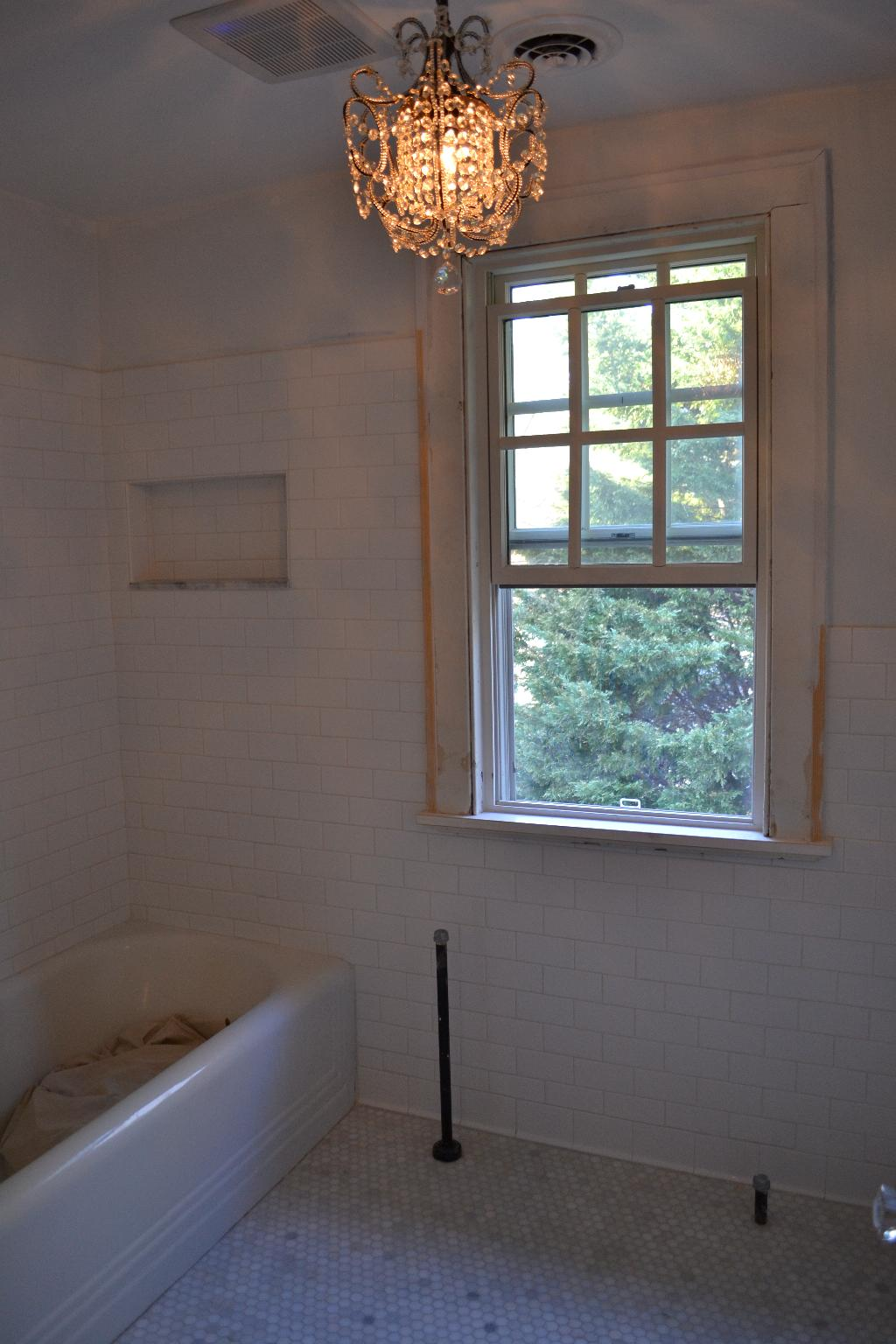 Cottage Fix - upstairs bathroom remodel in progress
