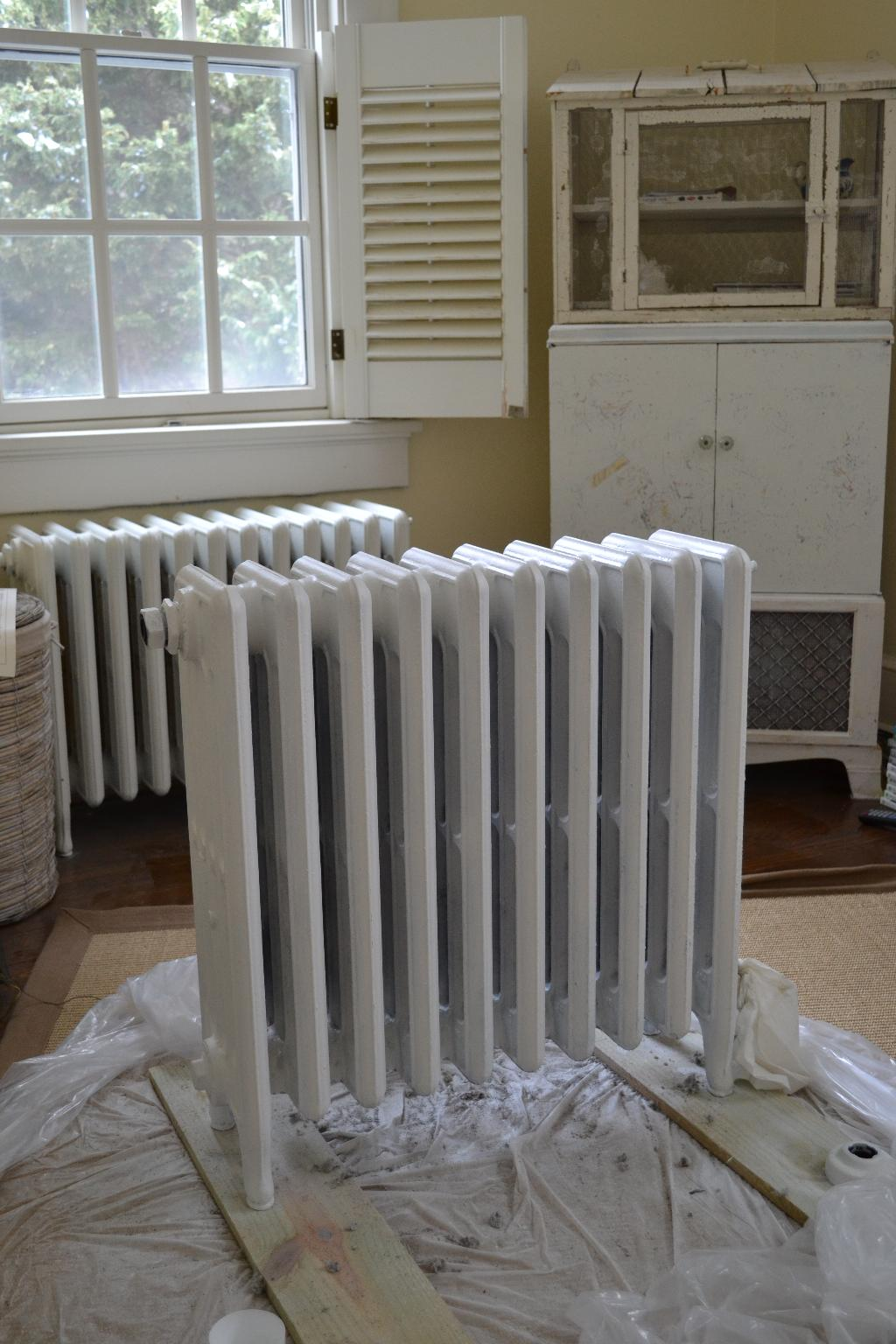 Cottage Fix - painted radiator