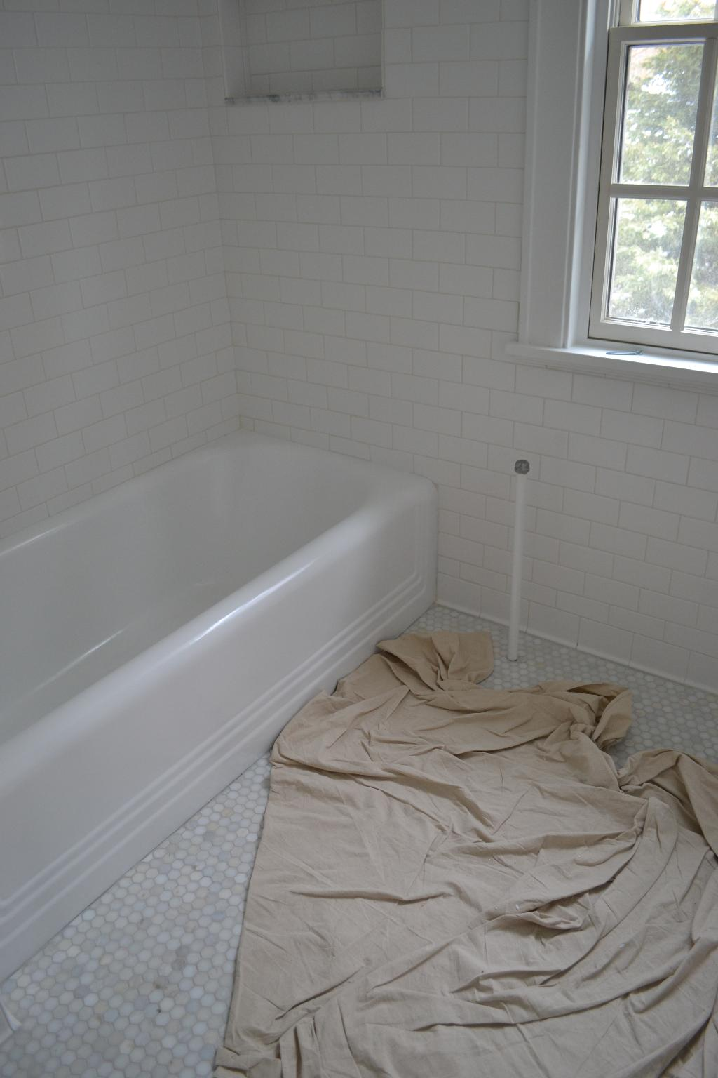 Cottage Fix - refinished tub from the 1930s