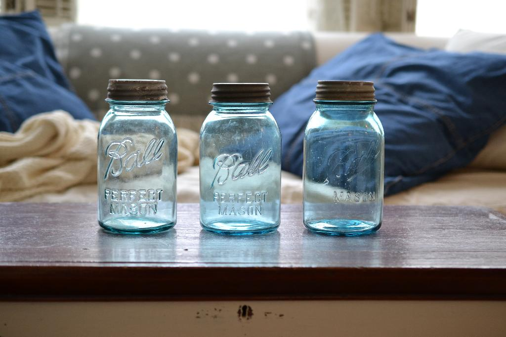 Cottage Fix blog - vintage Ball jars for cottage charm