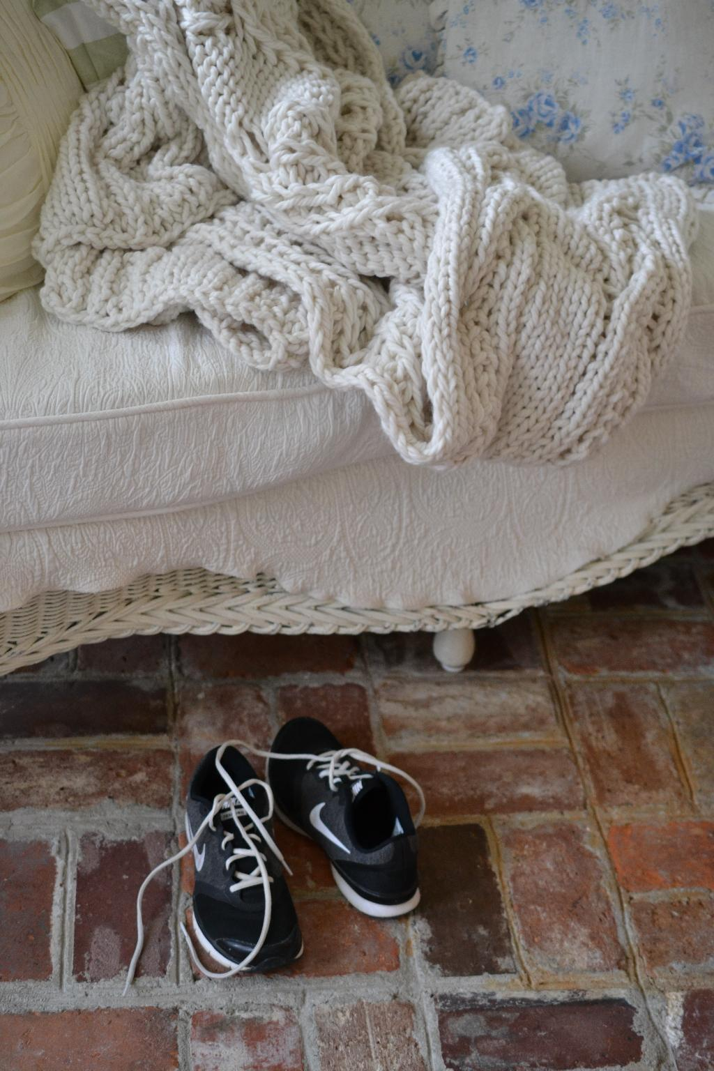 Cottage Fix blog - Pottery Barn cable knit throw