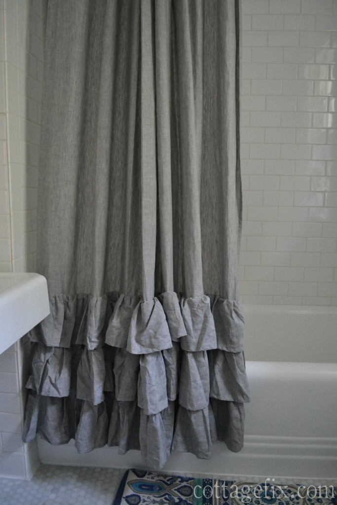 Cottage Fix blog - Pottery Barn shower curtain