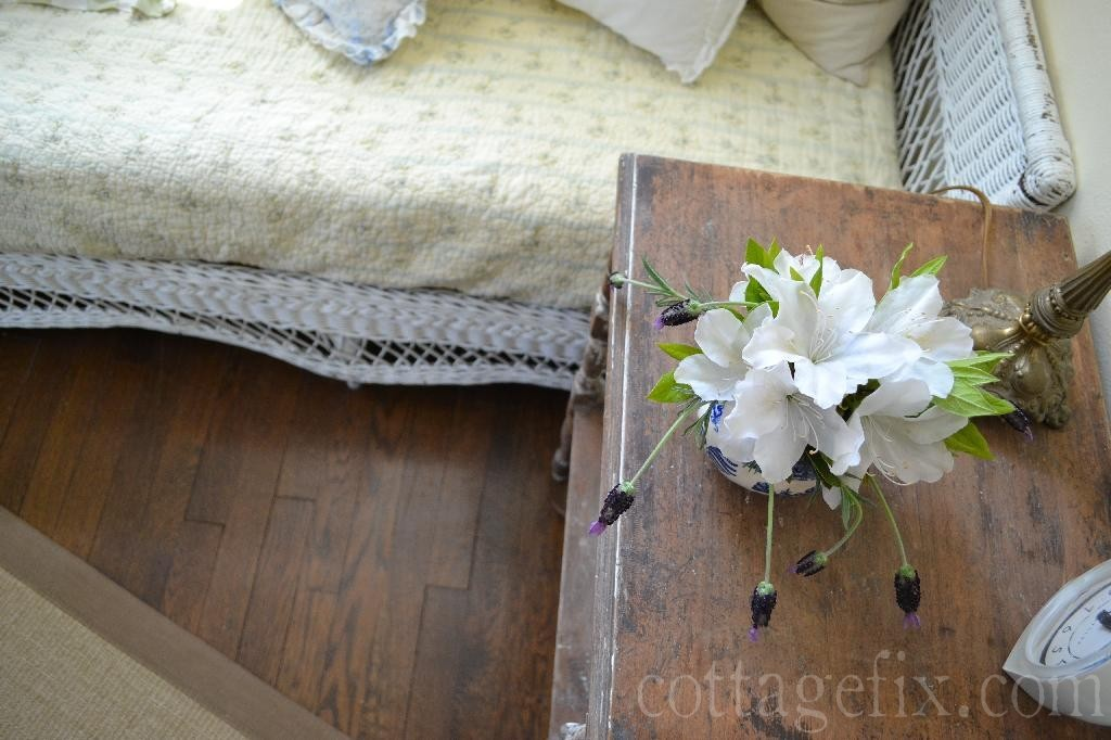 Cottage Fix blog - white azaleas and lavender