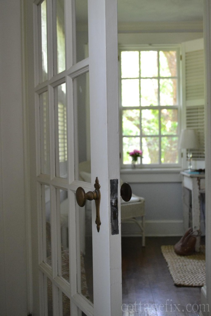 Cottage Fix blog - French door leading to the office