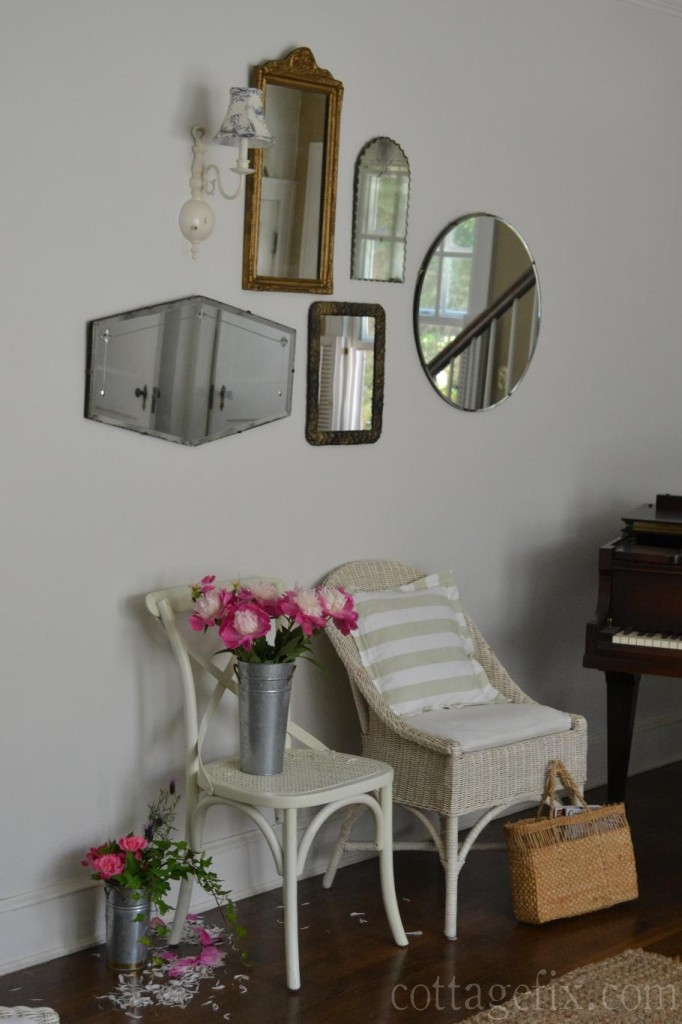 Cottage Fix blog - vintage mirror collection