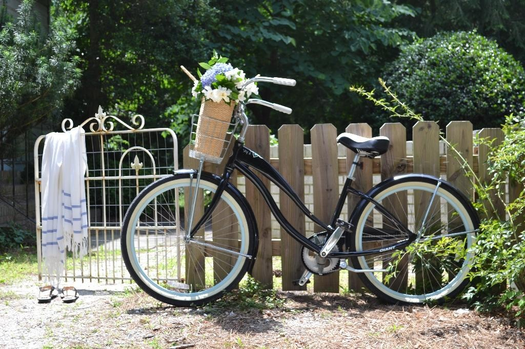 Cottage Fix blog - bike and flowers in the cottage garden
