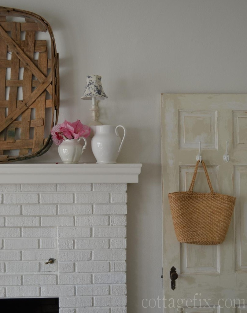 Cottage Fix blog - tobacco basket over mantle