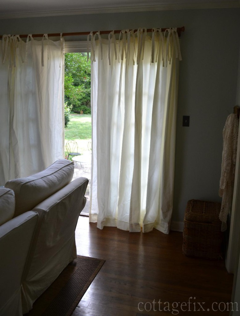 Cottage Fix blog - tie-top curtains
