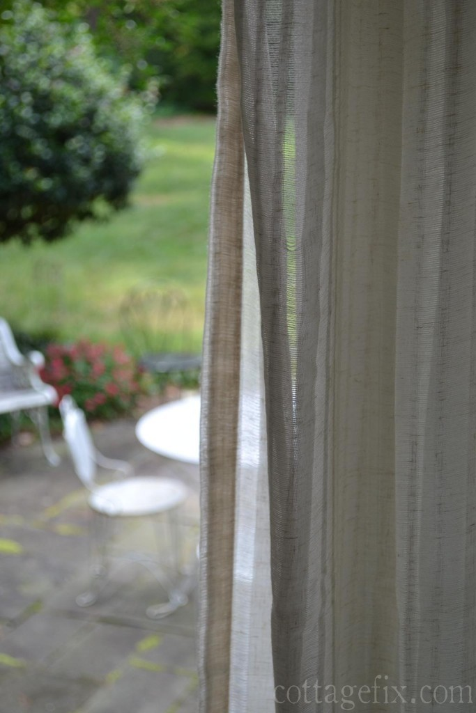 Cottage Fix blog - textured white drapes