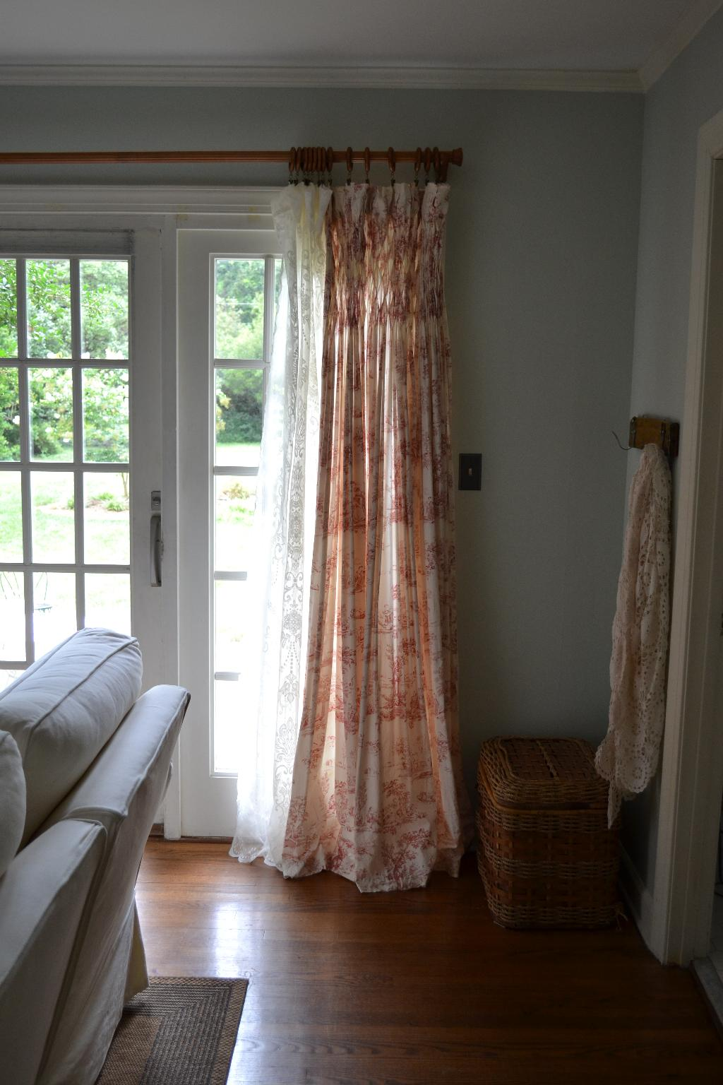 Cottage curtains - Cottage Fix Blog Toile And Lace Window Panel