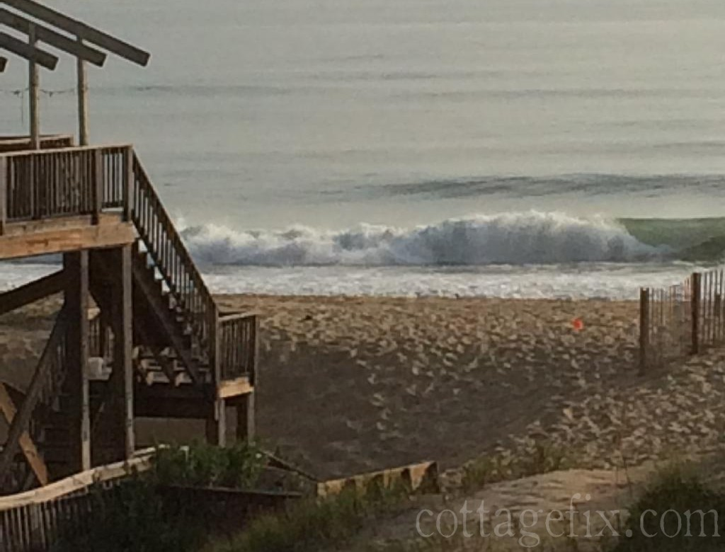 Cottage Fix blog - waves crashing ashore, South Nags Head, NC
