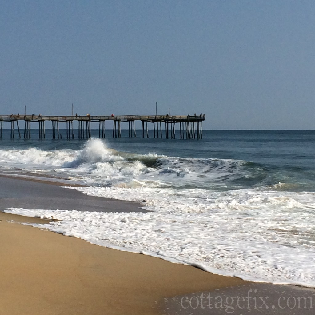 Cottage Fix blog - sand, sea, and the pier in South Nags Head, NC