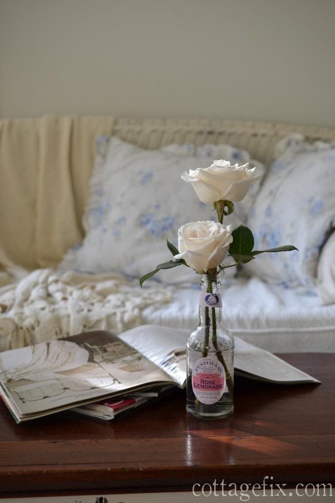 Cottage Fix blog - white roses