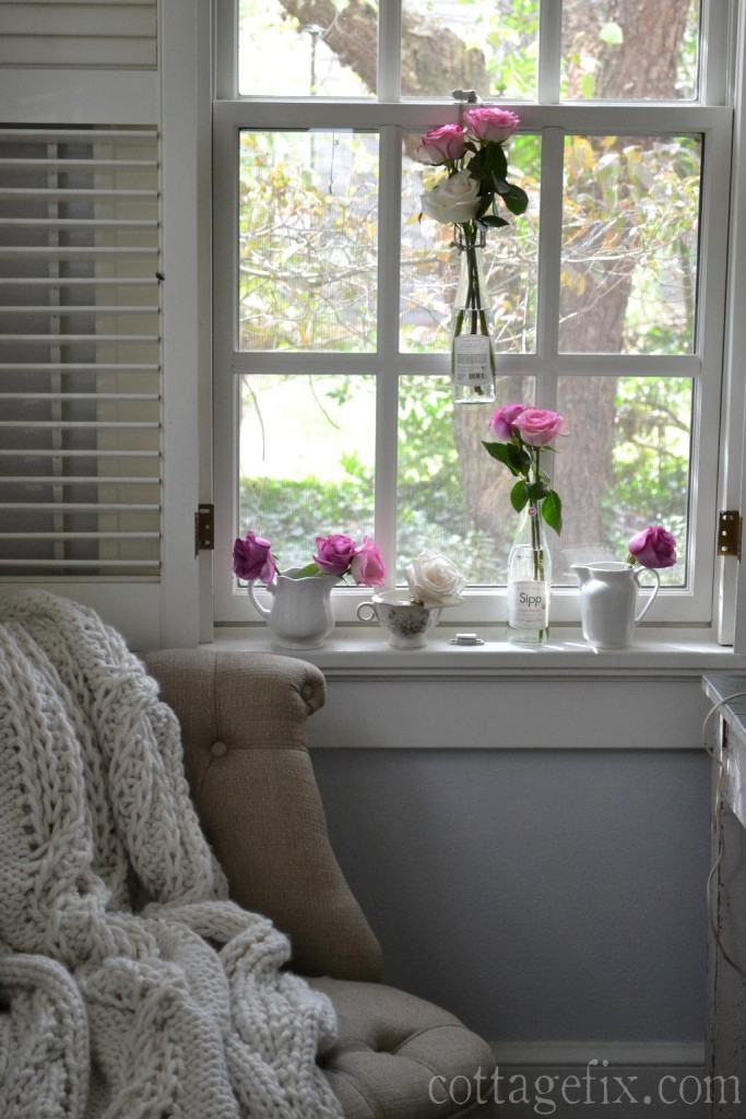 Cottage Fix blog - roses window art