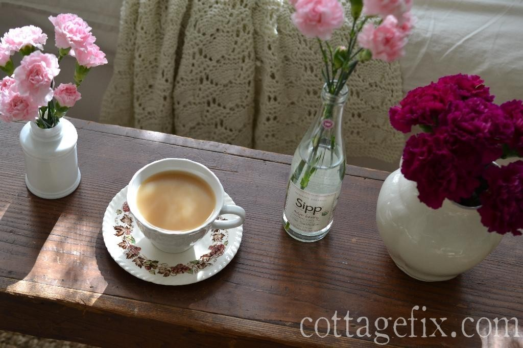 Cottage Fix blog - carnations and coffee