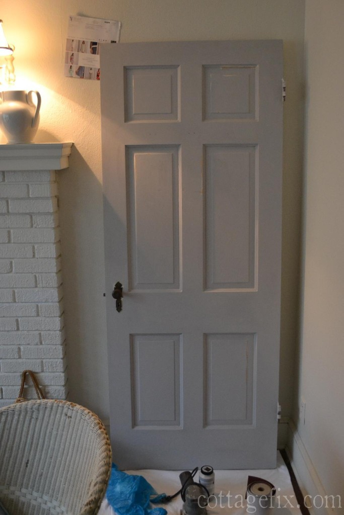 Cottage Fix blog - gray chalk paint project in the works