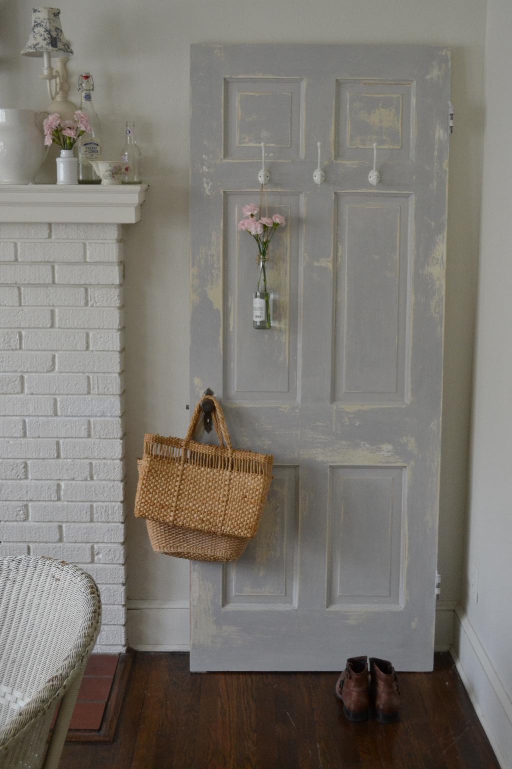 shabby door with parisian gray chalk paint cottage fix
