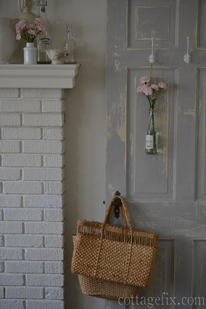 Cottage Fix blog - Parisian Gray chalk paint chippy door