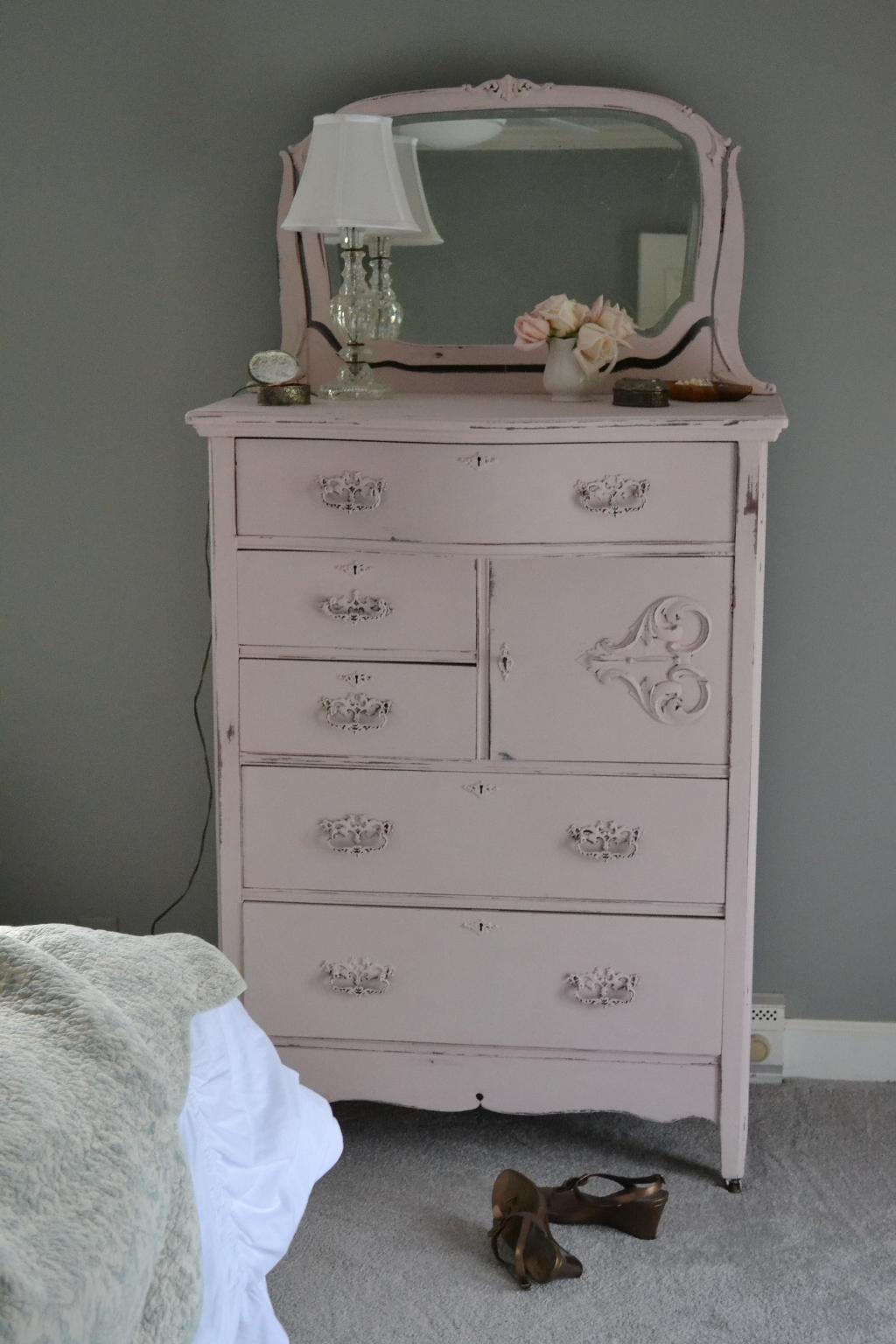 Blush Painted Dresser In Annie Sloan Antoinette Chalk