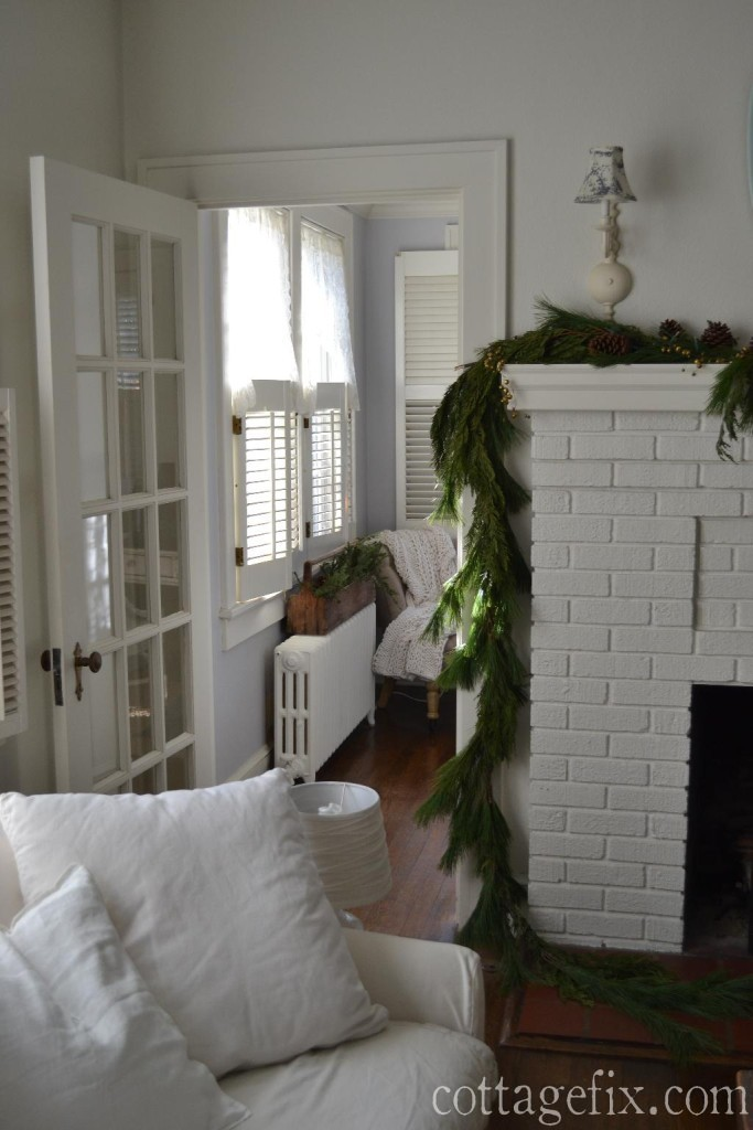 Cottage Fix blog - fresh greenery and garland