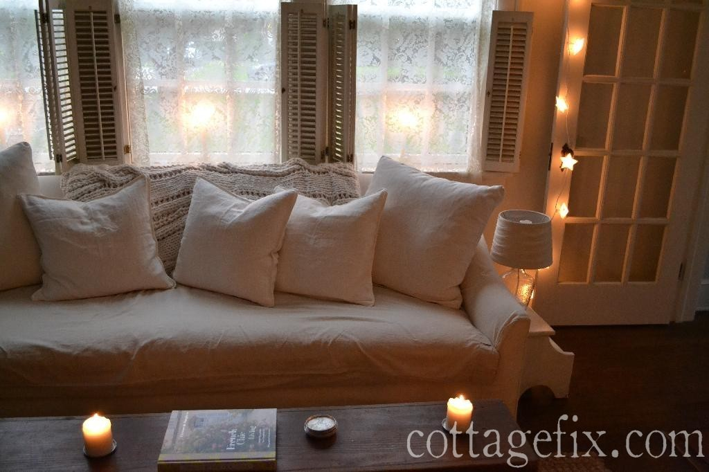 Cottage Fix blog - star lights and candlelight