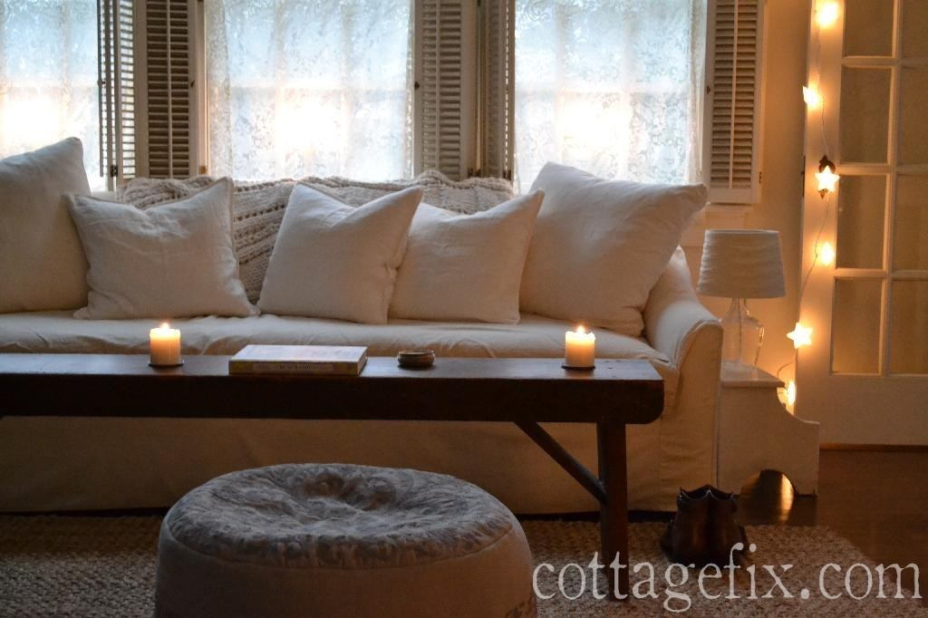 Cottage Fix blog - whites, candlelight, and star lights