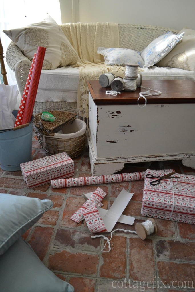 Cottage Fix blog - cottage style wrapping station