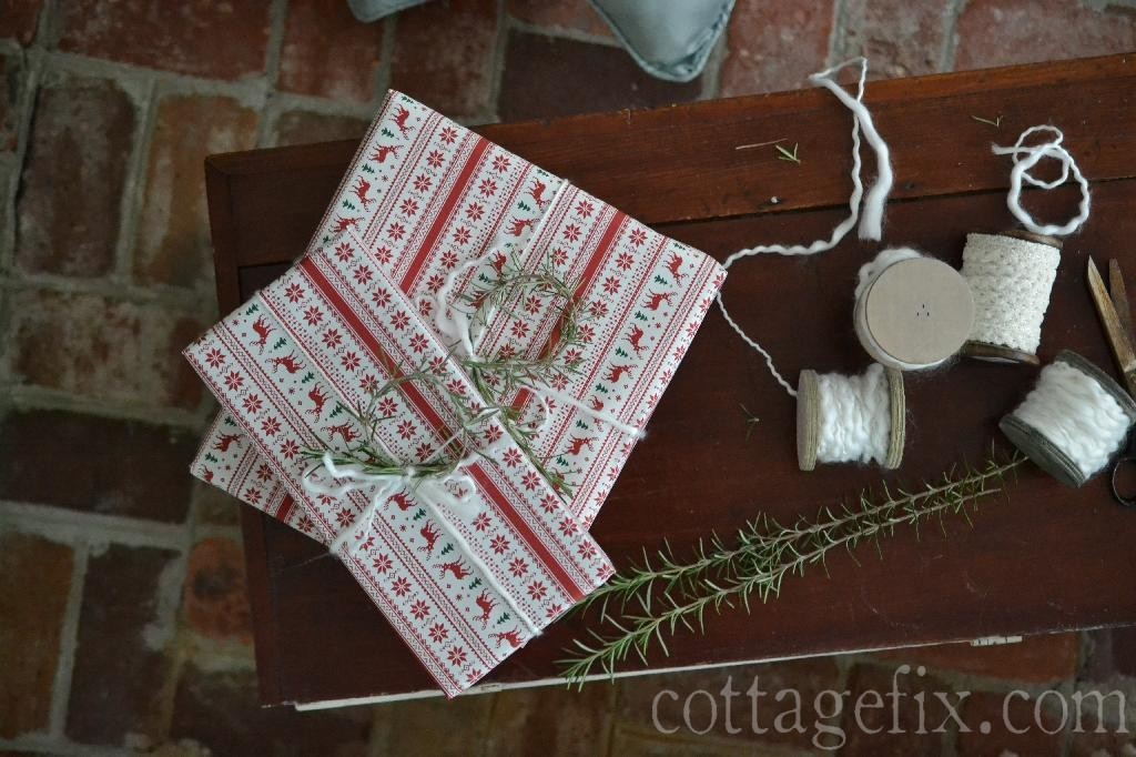 Cottage Fix blog - cottage style Christmas wrapping